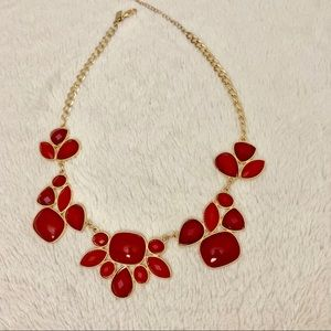 Jewelry - Red and gold statement necklace Macy's